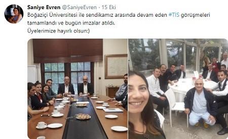Eğitim daire başkanı Evren: Boğaziçi Üniversitesi ile TİS imzalandı.